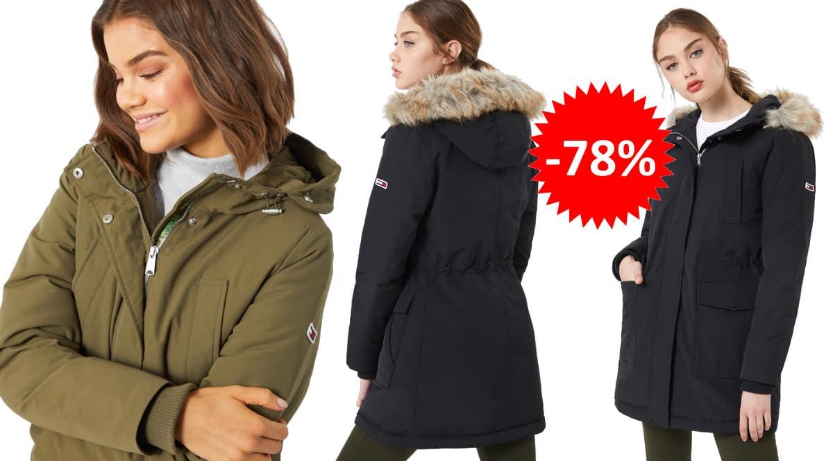 Parka Tommy Jeans Technical barata, ropa de marca barata, ofertas en chaquetas chollo