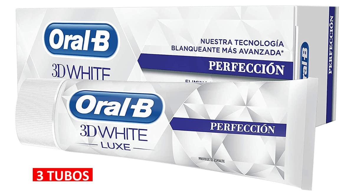 Pasta de dientes Oral-B 3DWhite Luxe Perfección barata, pasta de dientes de marca barata, ofertas supermercado, chollo