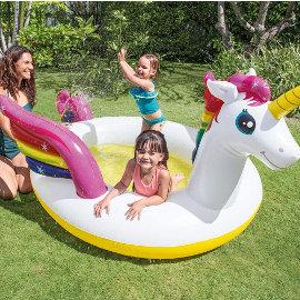 Piscina unicornio Intex 57441NP barata, piscinas para niños de marca baratas, ofertas niños