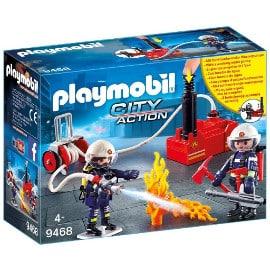 ¡Precio mínimo histórico! Playmobil City Action Bomberos con Bomba de Agua (9468) sólo 10.36 euros. 53% de descuento.