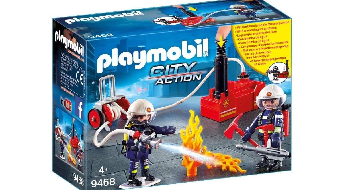 Playmobil City Action Bomberos con Bomba de Agua barato, juguetes baratos, ofertas en juguetes chollo