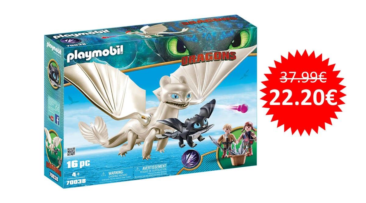 ¡¡Chollo!! Playmobil Furia Diurna y bebé dragón con niños sólo 22 euros.
