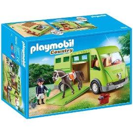 ¡¡Chollo!! Playmobil Transporte de Caballo (6928) sólo 17.99 euros. 55% de descuento.