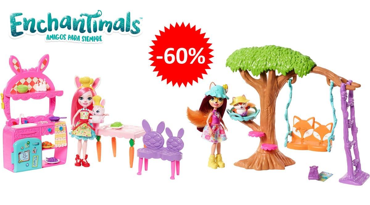 Playset Enchantimals Jardín o Cocina Divertida barato, juguetes baratos, ofertas para niños chollo