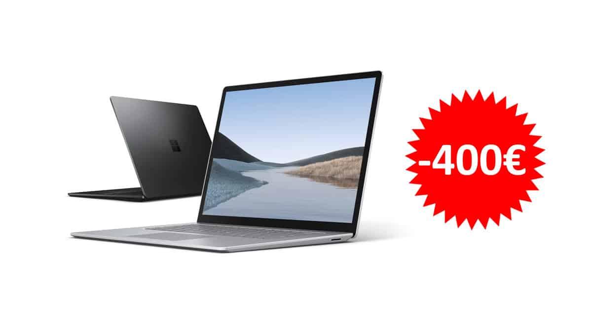 ¡Precio mínimo histórico! Portátil de 13.5″ Microsoft Surface Laptop 3 i5-1035G7/8GB/256GB SSD sólo 1049 euros. Te ahorras 400 euros.