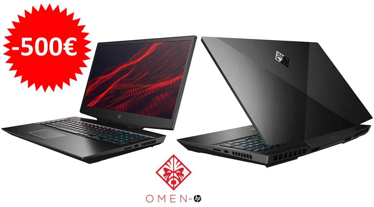 ¡¡Chollo!! Portátil gaming HP OMEN 17-CB1005NS 17.3″ i7-10750H/32GB/1TB SSD/RTX 2080 SUPER sólo 1799 euros. Te ahorras 500 euros.