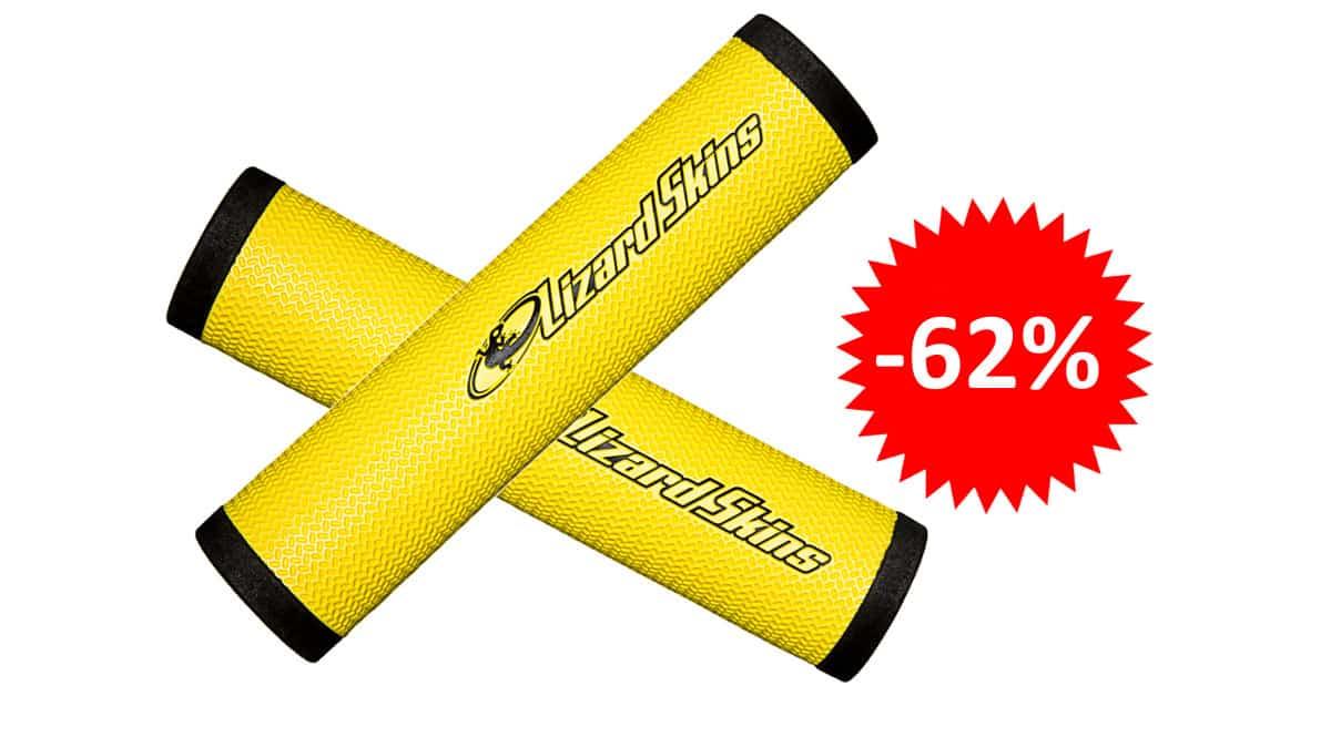 ¡¡Chollo!! Puños de manillar de bicicleta Lizard Skins de 30.3mm sólo 9.47 euros. 62% de descuento.