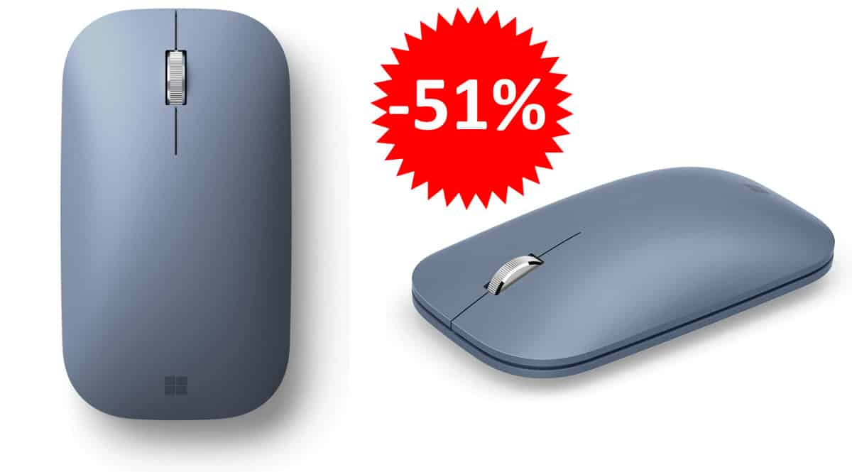 ¡Precio mínimo histórico! Ratón Bluetooth Microsoft Surface Mobile sólo 16.99 euros. 51% de descuento.