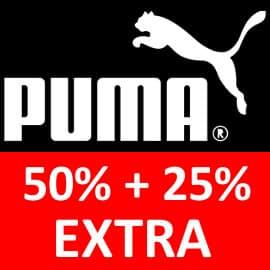 ¡Código descuento! Hasta un 63% de descuento en ropa y calzado Puma para hombre y mujer.
