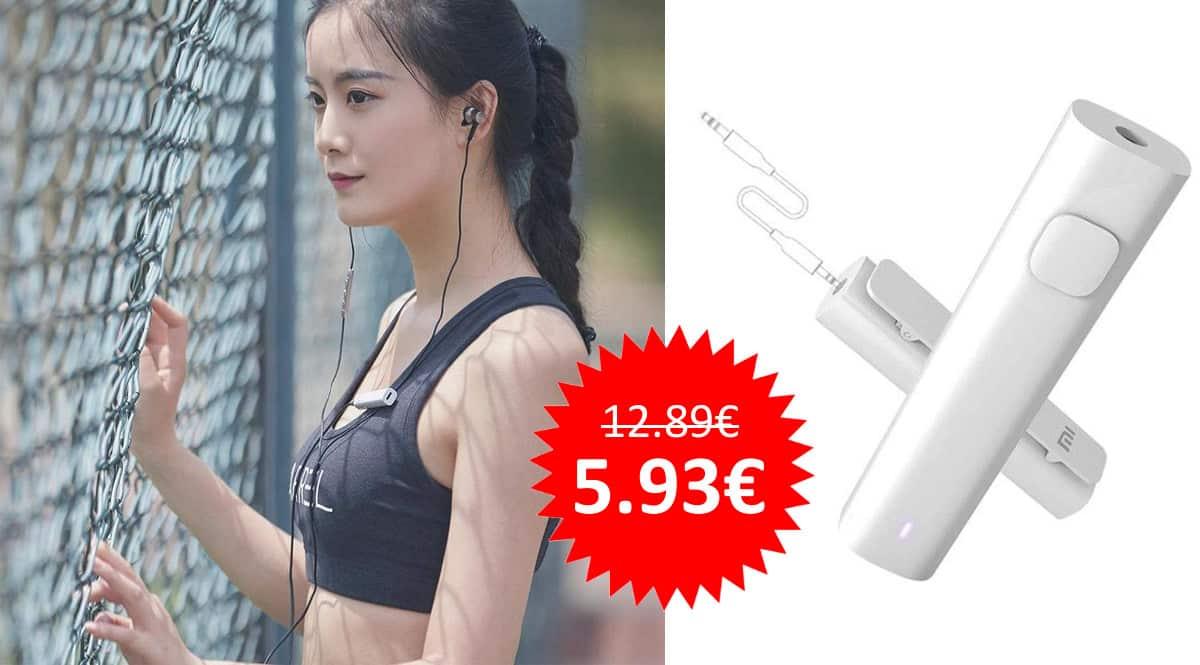 ¡¡Chollo!! Receptor de audio Xiaomi Mi Bluetooth sólo 5.93 euros. 54% de descuento.