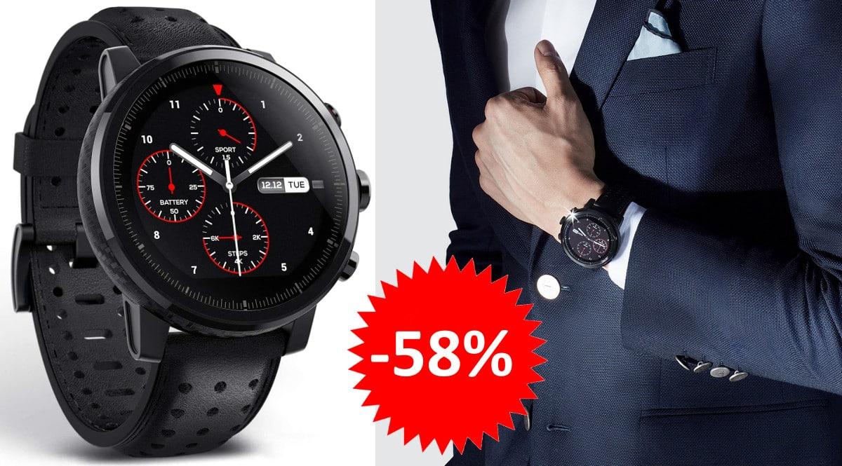 ¡Código descuento! Reloj smartwatch Amazfit Stratos+ sólo 82 euros. 58% de descuento.