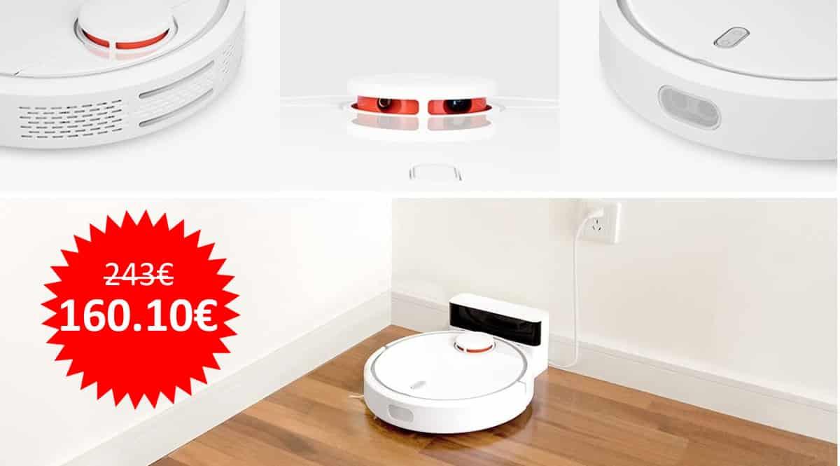 ¡Código descuento! Robot aspirador Xiaomi SDJQR01RR Vacuum Cleaner sólo 160 euros. Te ahorras 83 euros.
