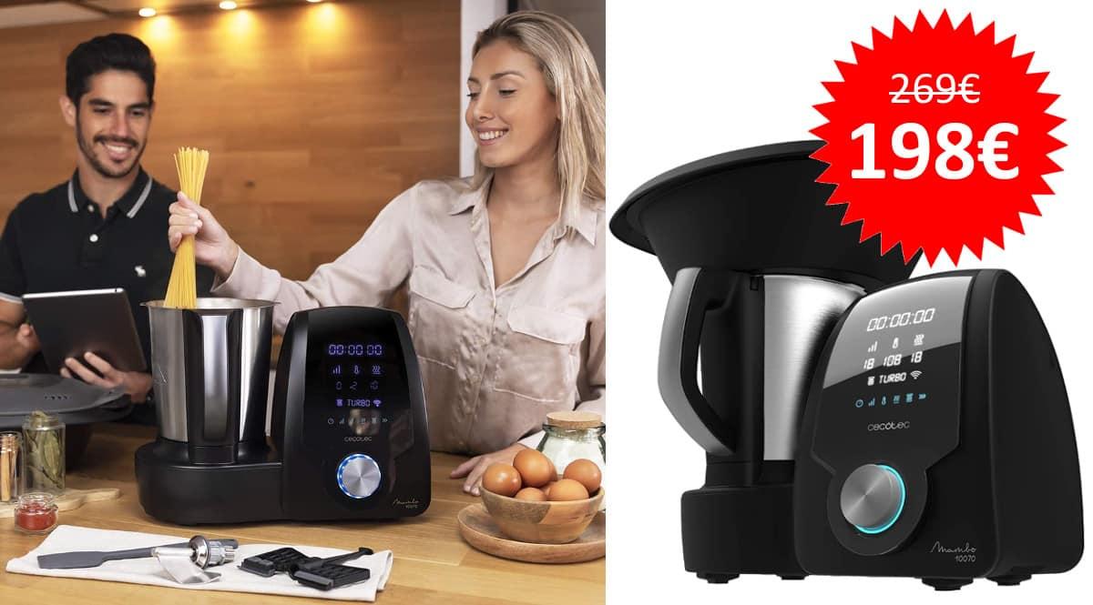 ¡Código descuento! Robot de cocina multifunción Cecotec Mambo 10070 sólo 198 euros. Te ahorras 71 euros.