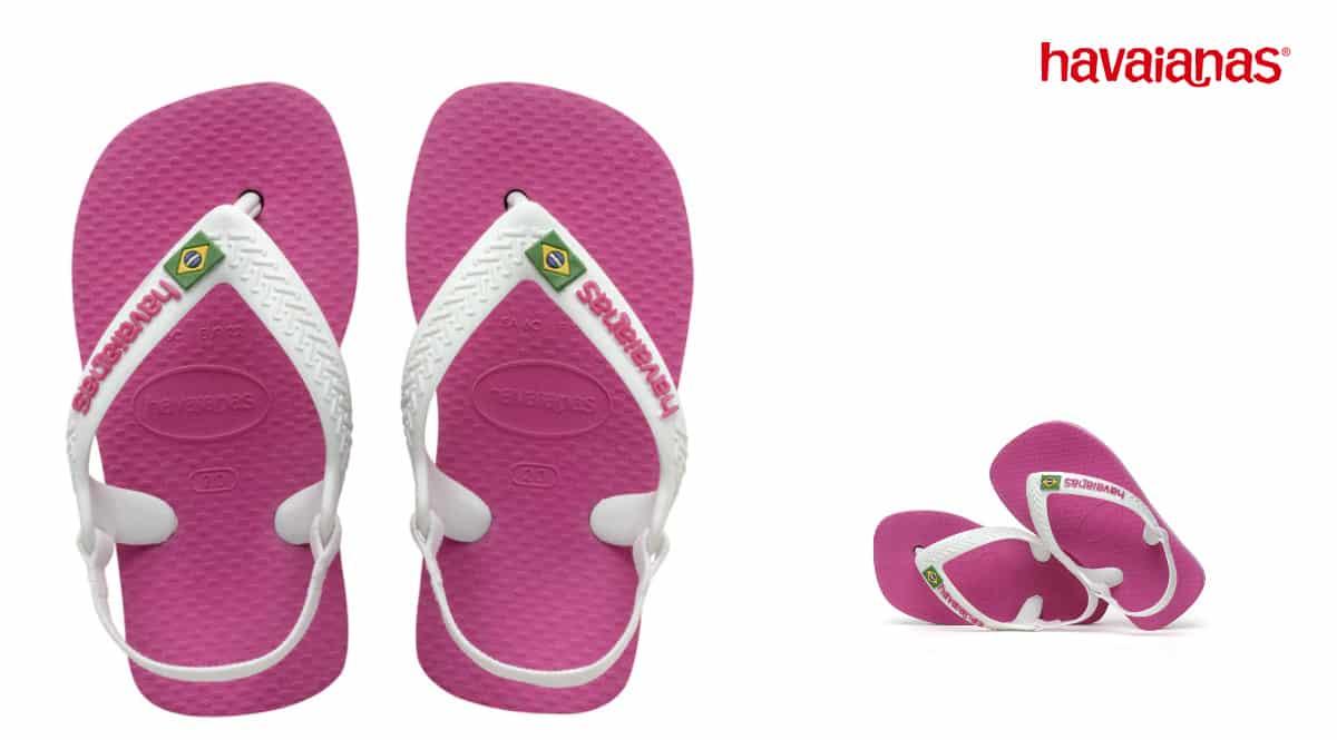 Sandalias infantiles Havaianas baby Brasil logo II baratas, chanclas de marca baratas, ofertas en calzado, chollo
