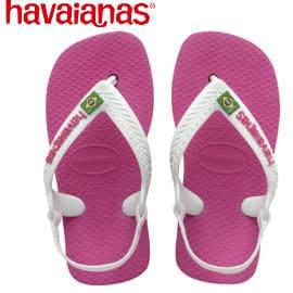 Sandalias infantiles Havaianas baby Brasil logo II baratas, chanclas de marca baratas, ofertas en calzado