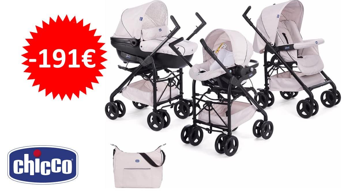 Set de paseo Chicco Trío Sprint barato, silla de paseo para bebé de marca barata, ofertas para bebés, chollo