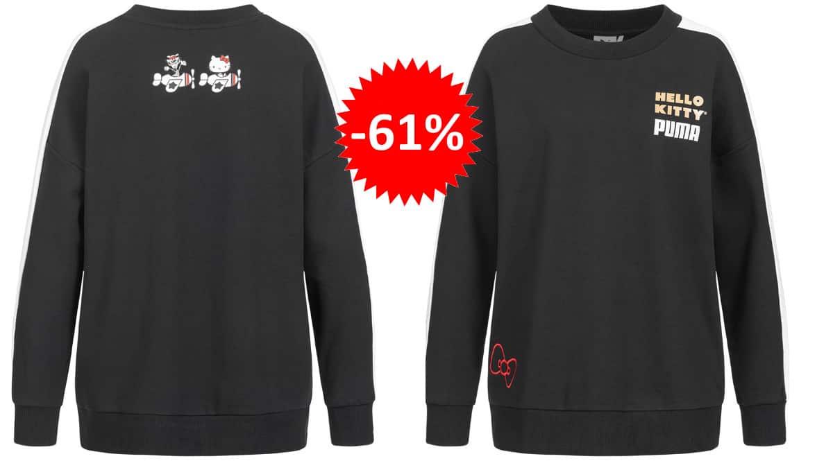 Sudadera Puma x Hello Kitty barata, ropa de marca barata, ofertas en sudaderas chollo1