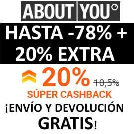Super Cashback en About You, ropa de marca barata, ofertas en calzado