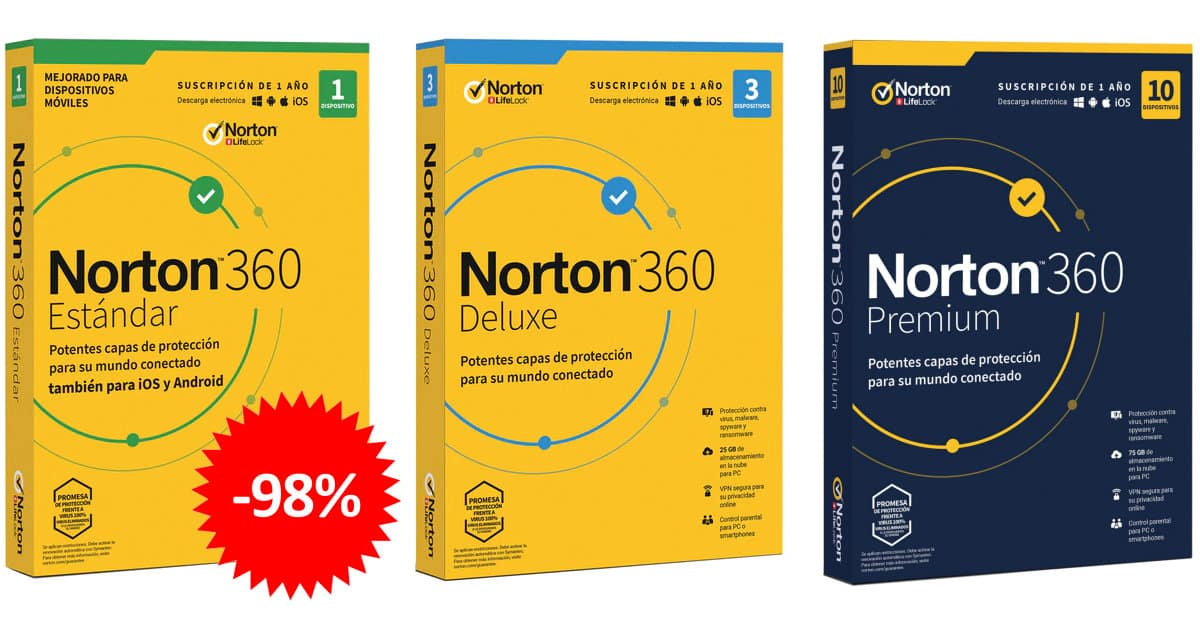 Super Cashback en Norton antivirus barato, ofertas en VPN, antivirus baratos, chollo