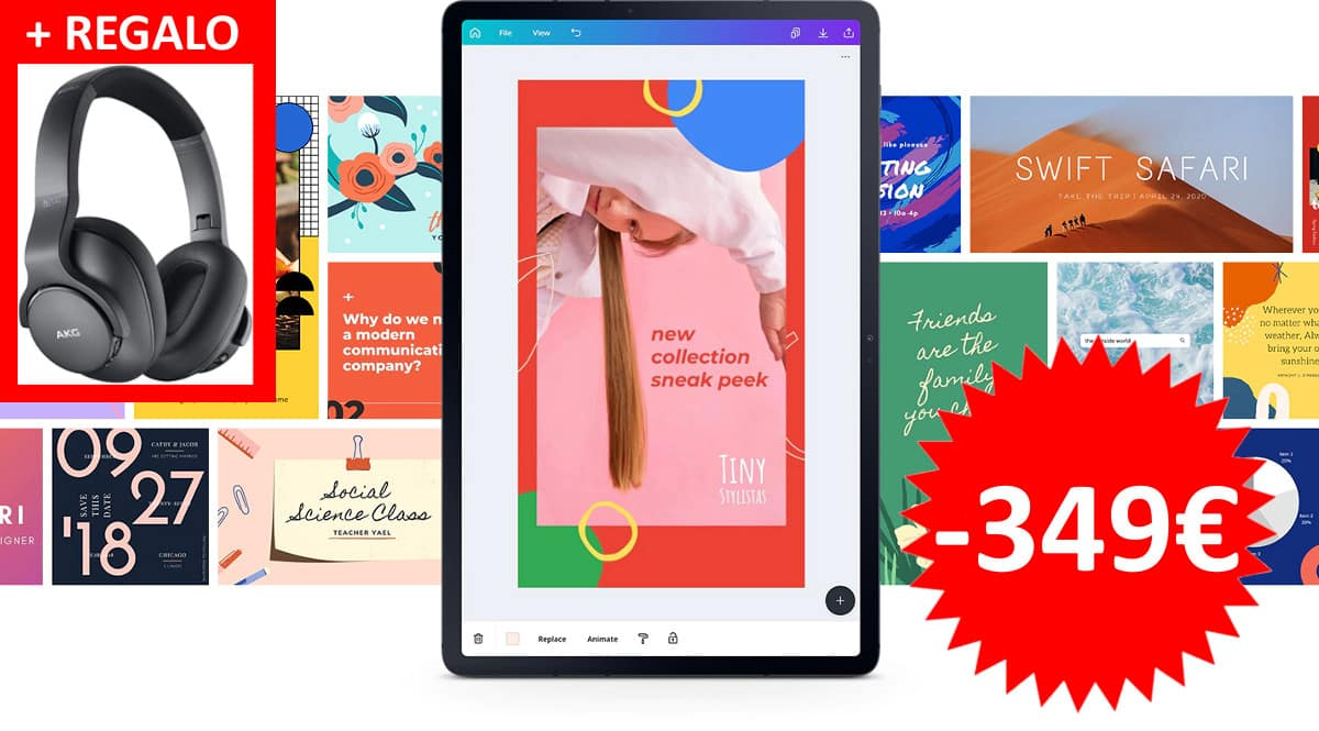 Tablet Samsung Galaxy Tab S7 + auriculares AKG barata. Ofertas en tablets, tablets baratas, chollo