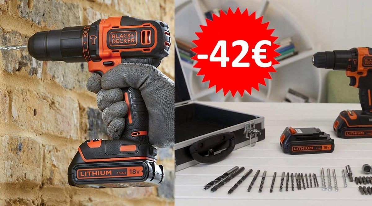 Taladro Black+Decker BDCHD18BAFC barato. Ofertas en herramientas, herramientas baratas, chollo