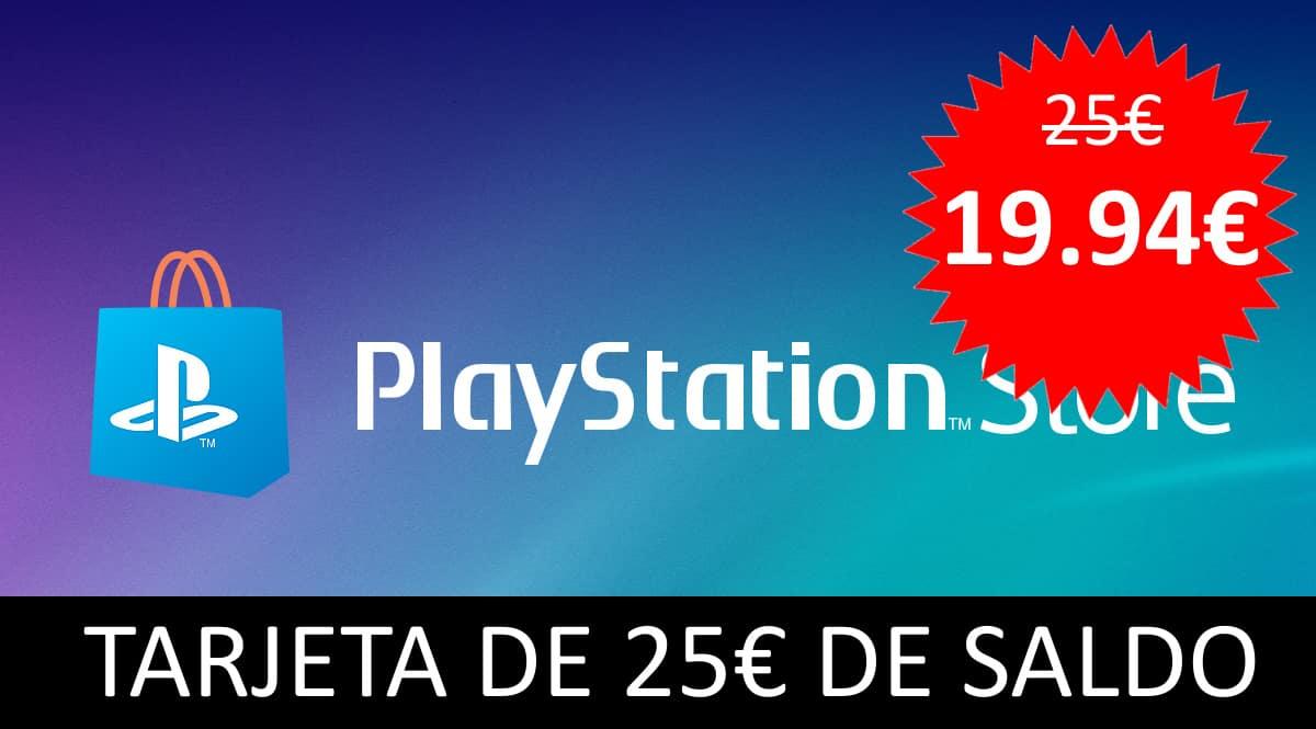 Tarjeta de 25 euros de saldo para la Playstation Store, chollo