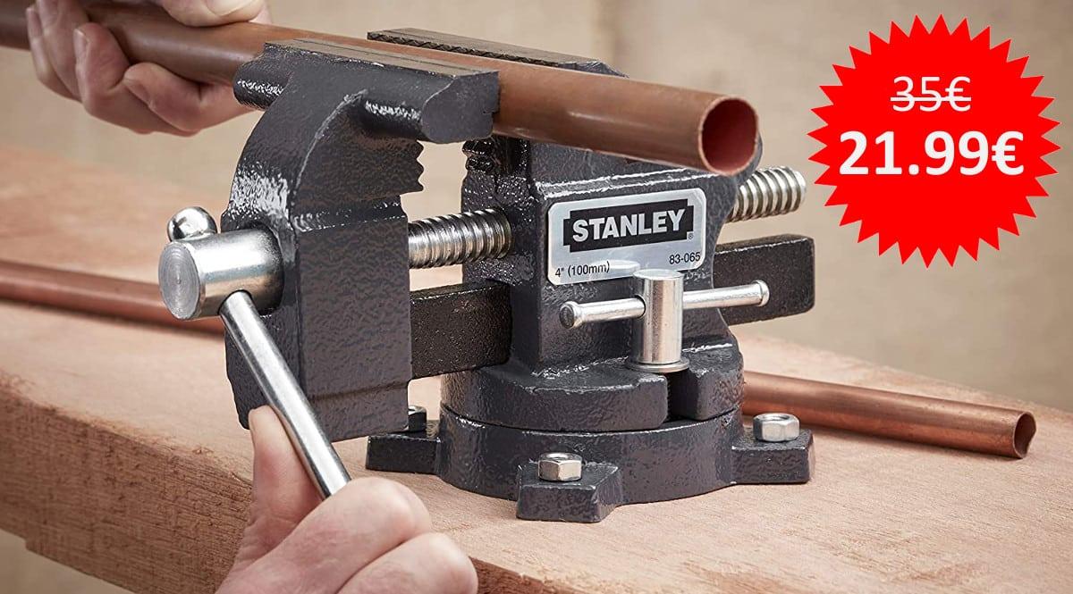 ¡¡Chollo!! Tornillo de banco de carga ligera Stanley Maxsteel 1-83-065 sólo 21.99 euros.