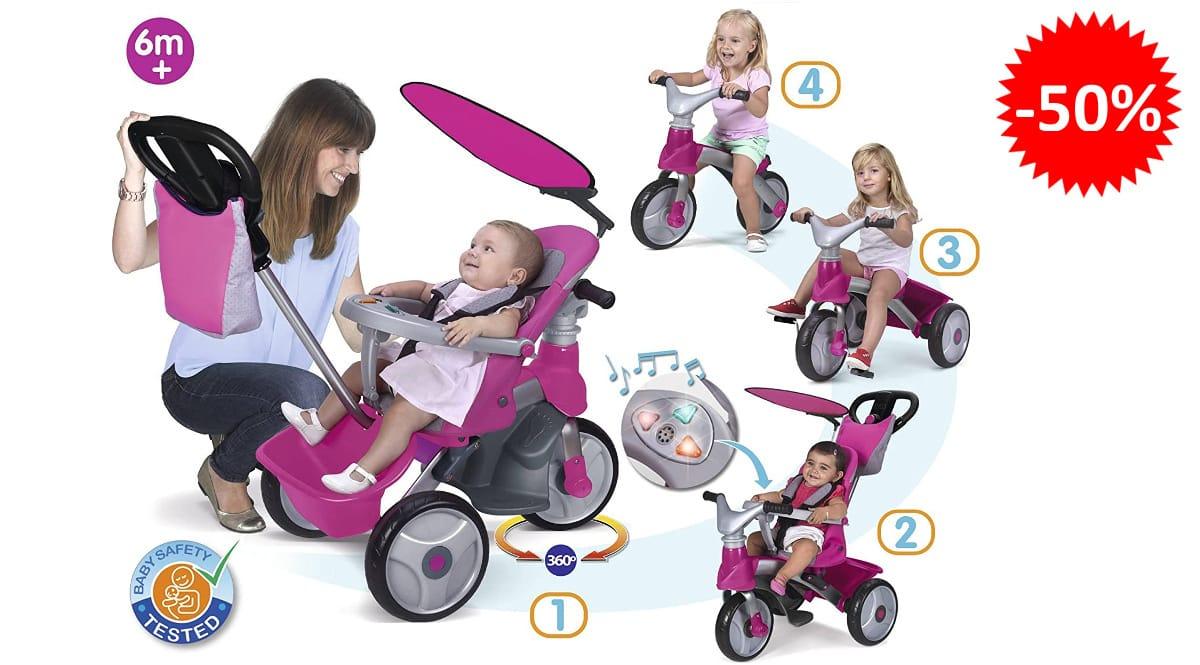 Triciclo evolutivo Feber Baby Trike 6 meses hasta 5 años barato-juguetes-de-marca-baratos-ofertas-para-ninos-chollo (1)