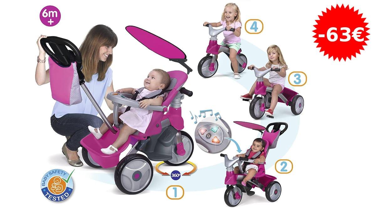Triciclo evolutivo Feber Baby Trike Easy Evolution barato, juguetes de marca baratos, ofertas para niños, chollo
