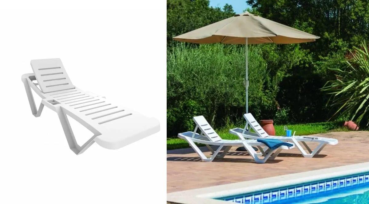 Tumbona reclinable resol barata, tumbonas de marca baratas, ofertas en muebles para jardín, chollo