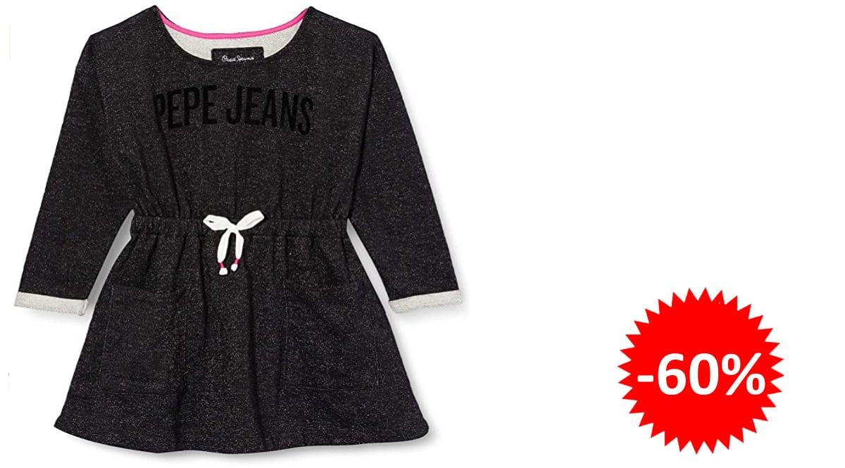 Vestido para niña Pepe Jeans Evelyn barato, vestidos de marca baratos, ofertas en ropa para niños, chollo