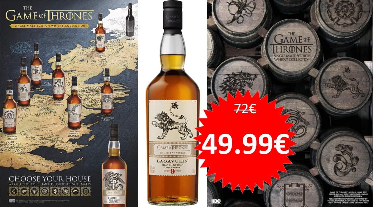Whisky 9 Lagavulin Juego de Tronos Lannister barato. Ofertas en Whisky, whisky barato, chollo