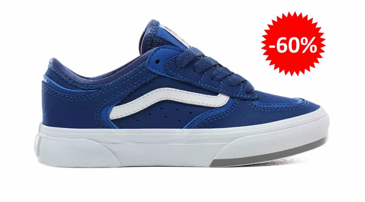 Zapatillas Vans Rowley para niños baratas, calzado de marca barato, ofertas en zapatillas chollo