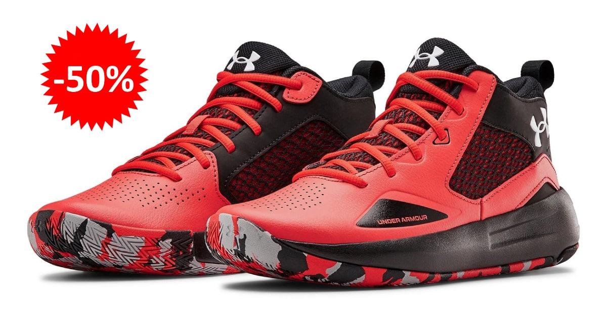 Zapatillas de baloncesto Under Armour Lockdown 5 baratas, calzado de marca barato, ofertas en zapatillas chollo