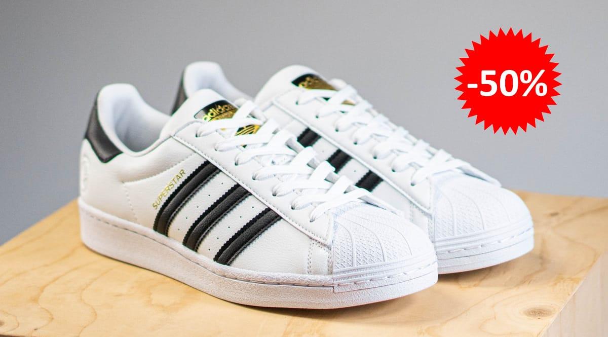 Zapatillas unisex Adidas Superstar Vegan baratas, calzado de marca barato, ofertas en zapatillas chollo