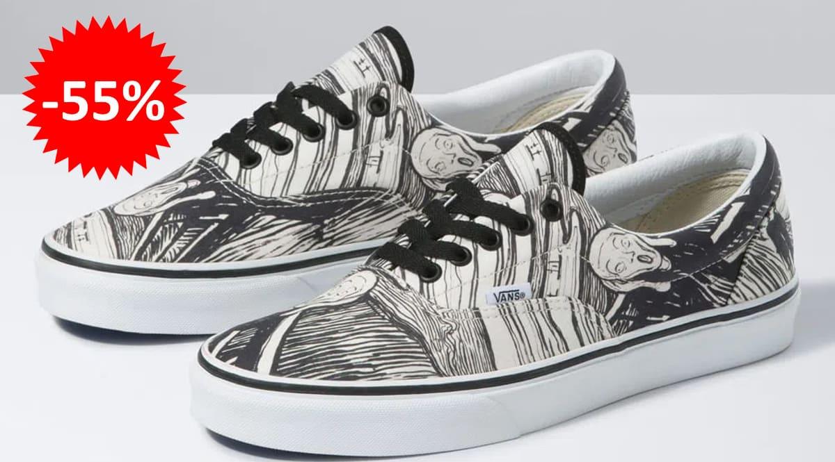 Zapatillas unisex Vans Era Moma de Munch baratas, calzado de marca barato, ofertas en zapatillas chollo