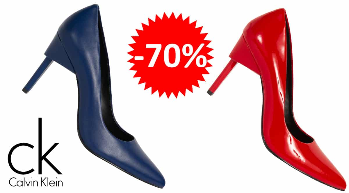 Zapatos de tacón Calvin Klein Princess Patent baratoz, zapatos de marca baratos, ofertas en calzado, chollo