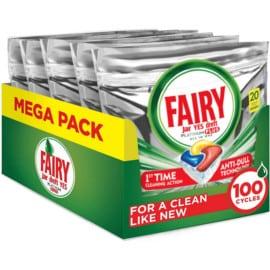 100 pastillas de detergente para lavavajillas Fairy Platinum Plus baratas. Ofertas en supermercado