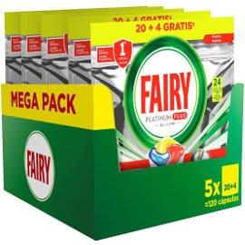 120 pastillas de lavavajillas Fairy Platinum Plus barato, detergente barato, ofertas para la casa