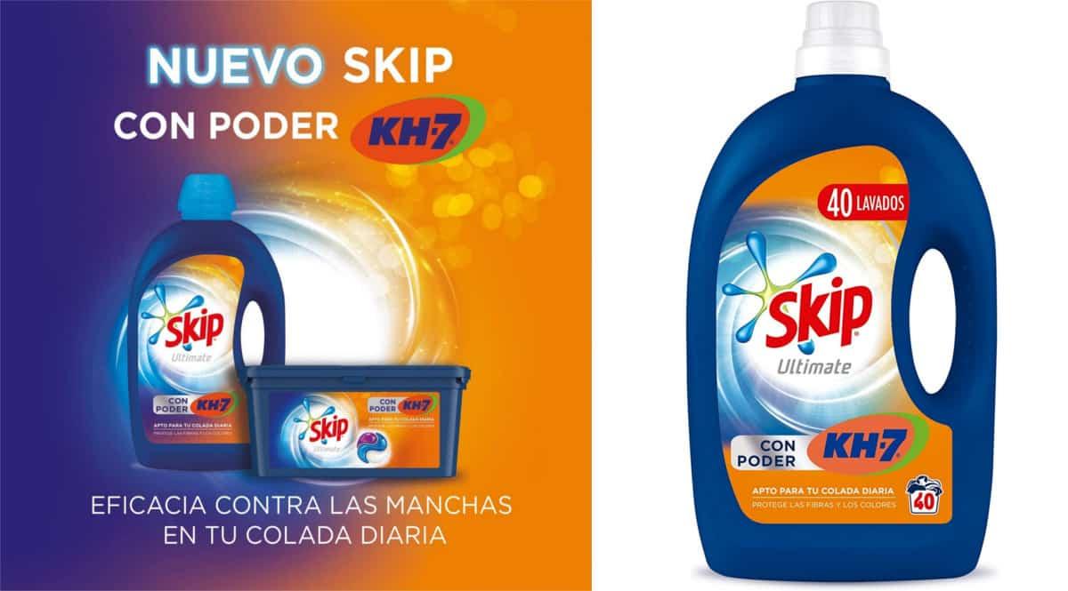 160 lavados de detergente Skip Ultimate Poder KH7 barato. Ofertas en supermercado, chollo
