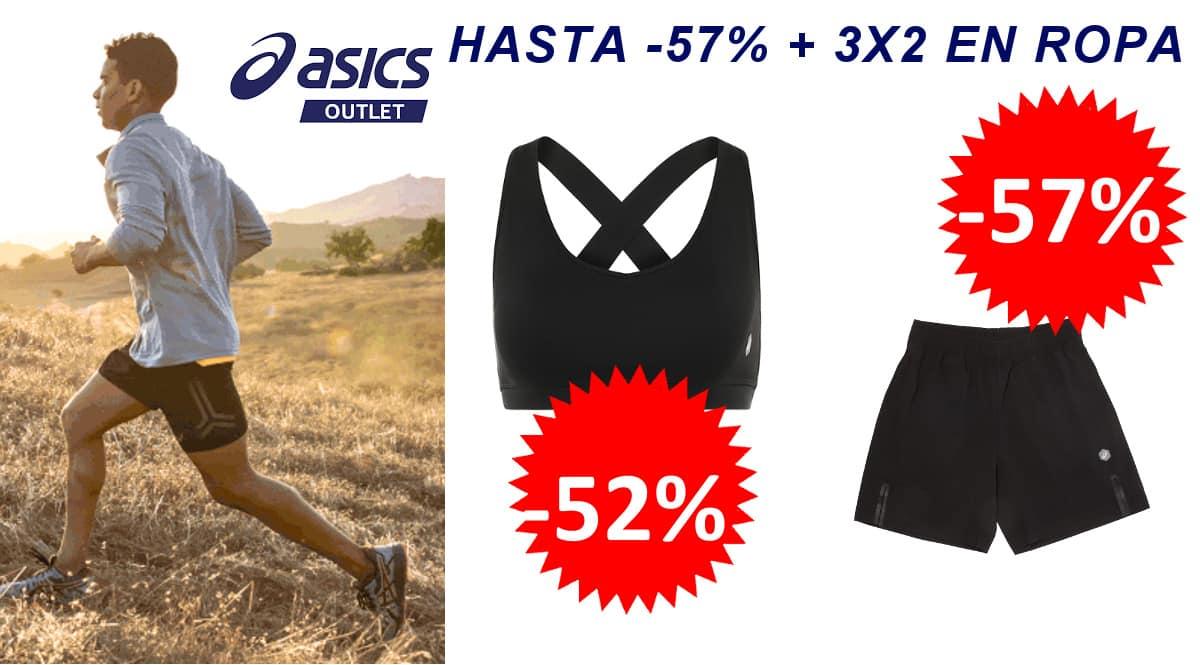 3x2 en ropa de deporte Asics, ropa de deporte de marca barata, ofertas en ropa deportiva, CHOLLO