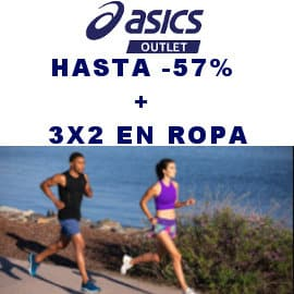 3x2 en ropa de deporte Asics, ropa de deporte de marca barata, ofertas en ropa deportiva