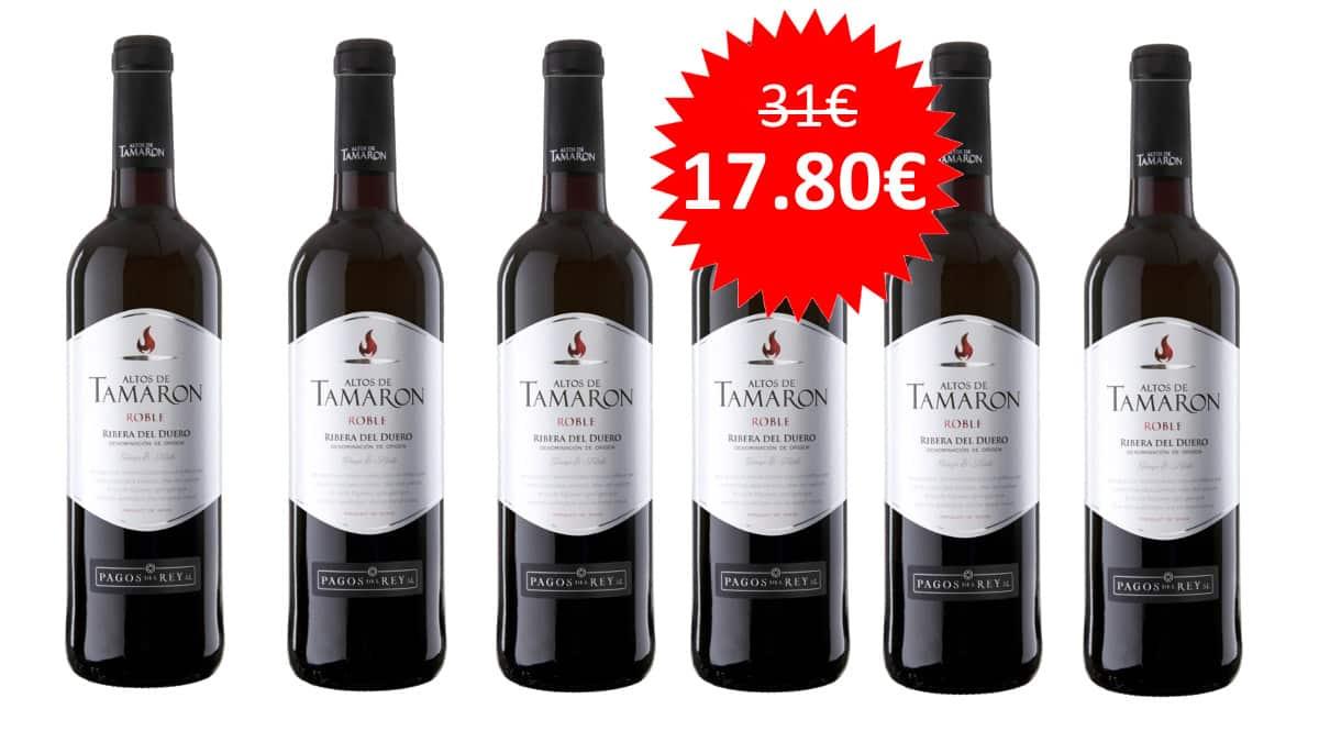 ¡¡Chollo!! 6 botellas vino tinto joven D.O. Ribera del Duero Altos de Tamarón sólo 17.80 euros.