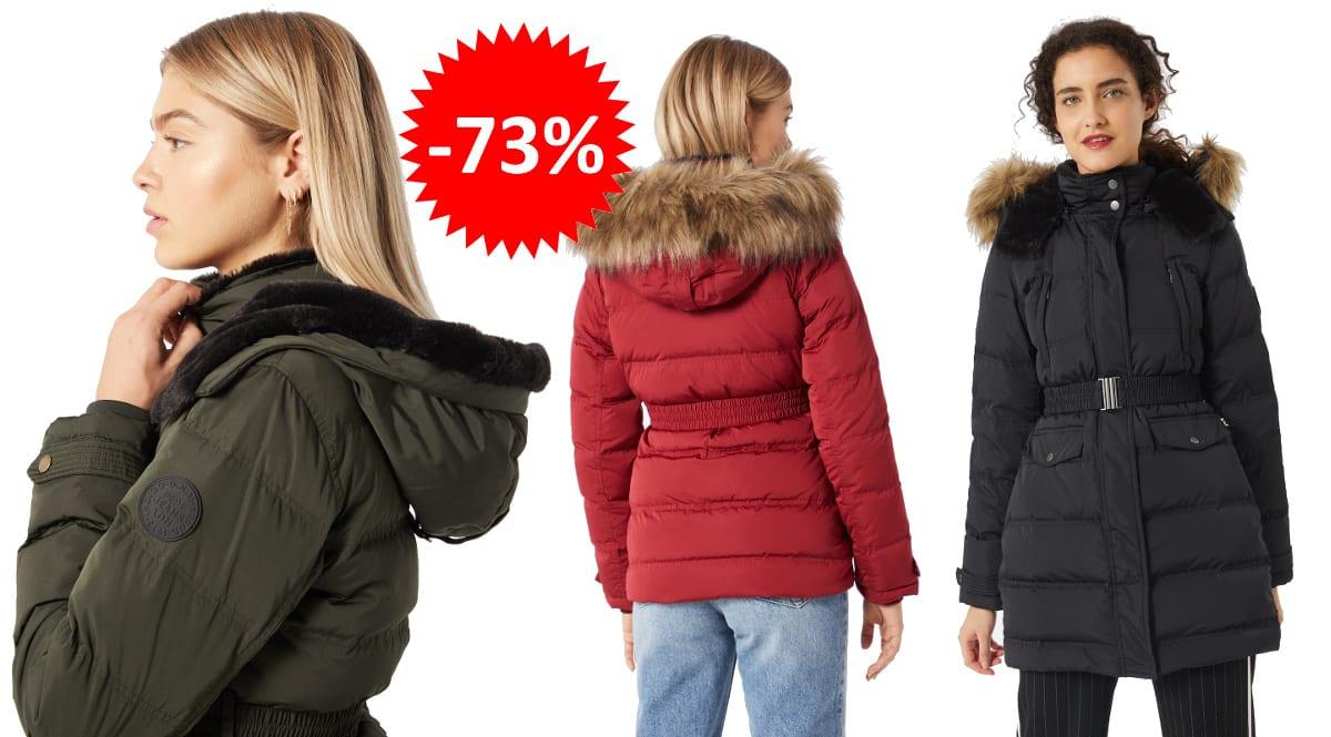 Abrigos Pepe Jeans mujer, ropa de marca barata, ofertas en abrigos chollo