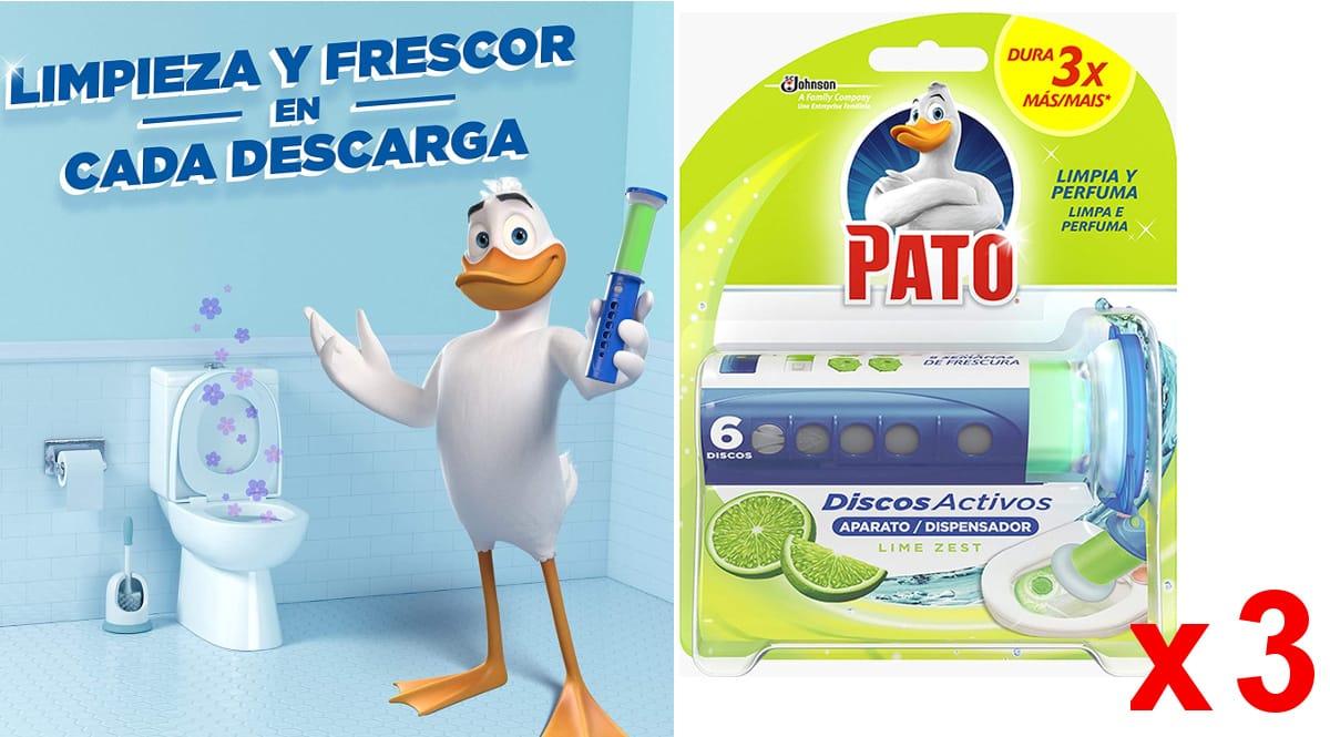 Aplicadores + discos activos Pato WC baratos, productos de limpieza WC de marca baratos, ofertas supermercado, chollo