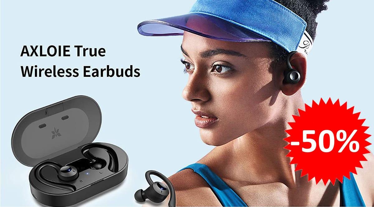 ¡Código descuento! Auriculares deportivos Bluetooth Axloie GOIN Pro sólo 15.99 euros. 50% de descuento.