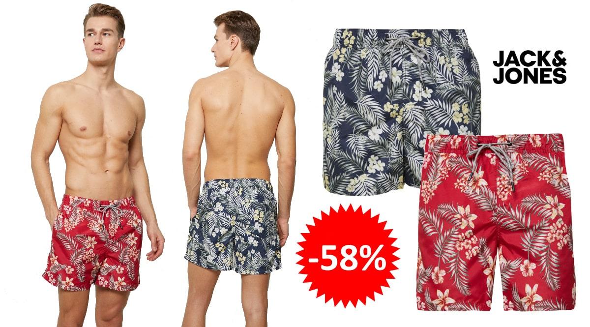 Bañador Jack & Jones Tropic barato, ropa de marca barata, ofertas en bermudas chollo
