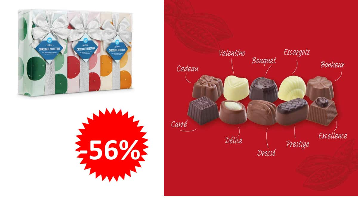 Bombones de chocolate belga Happy Belly baratos, bombones de chocolate de marca baratos, ofertas supermercado, chollo