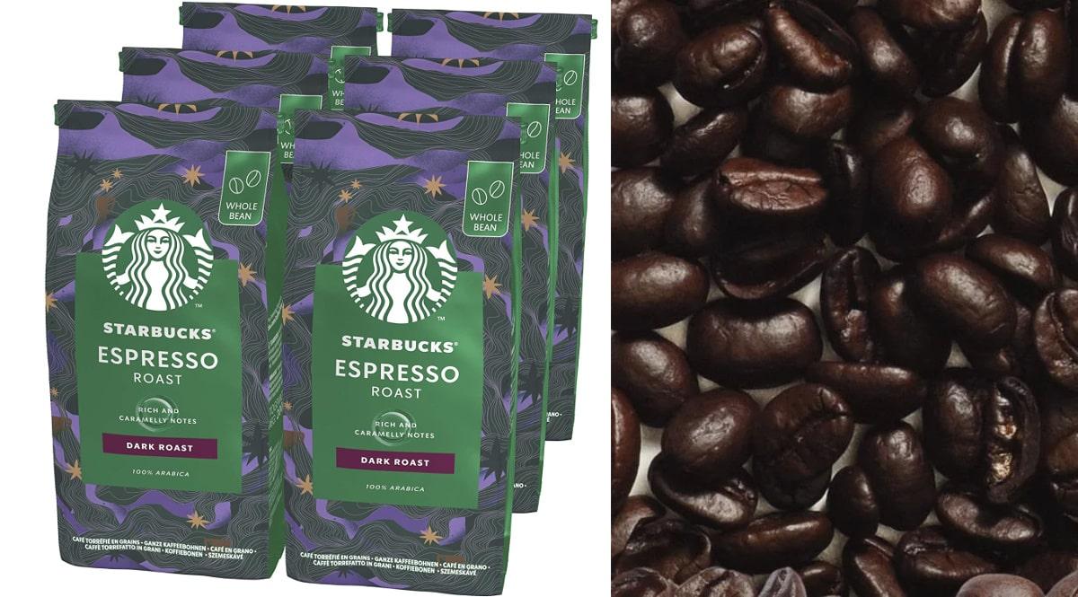Café en grano Starbucks Espresso Dark Roast barato, café de marca barato, ofertas supermercado, chollo