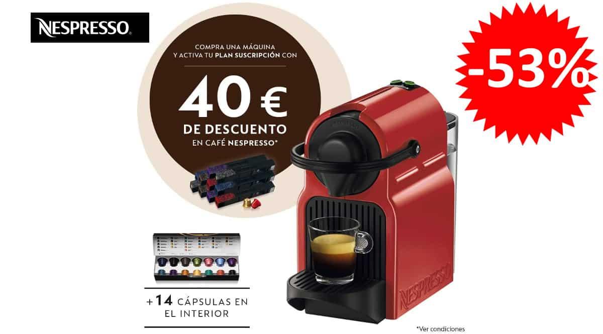 Cafetera de cápsulas Krups Nespresso Inissia XN1005 barata, cafeteras de marca baratas, ofertas hogar, chollo